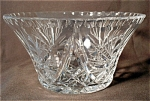 Clear Pressed Centerpiece Crystal Bowl