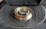 Silverplate And Glass Cake Stand