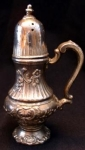 Silver Footed Salt Shaker With Handle