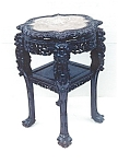 Carved Marble Top Stand