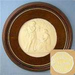 Porcelain Cameo Wood Velvet Frame