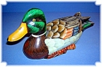 Wooden Duck Hand Painted And Hand Carved