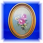 Vintage Rose Print In Frame.....
