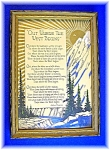 Framed 'out Where The West Begins' By Arthur Chapman ..