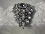 Dress Clip Foil Back Crystal 40s