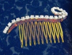 Fab Vintage Hair Comb With Rhinestones.