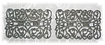 Vintage Silvertone Filigree Shoe Clips......