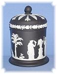 Discontinued Black Wedgewood Tall Lidded Jar
