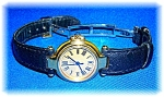 Ladies Gold Face Dunhill Sapphire Winder Watch
