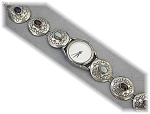 Accutime Sterling Silver Jewel Band Watch