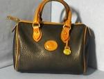 Bag Dooney & Bourke Usa Black Tan Leather Dr