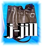 J. Jill Hand Bag Purse Black Leather