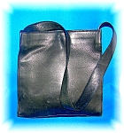 Anne Taylor Loft Leather Tote Purse Black ..........