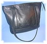 Black Leather Tote Bag Jean Olson Colorado