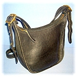 Black Coach Leather Shoulder Bag