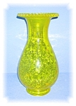 Large Vaseline Color Fluted Vase