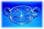 Cut Glass Sugar Bowl - Star Burst - . . .