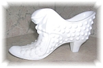 Fenton Hobnail Milk Glass Shoe Cat