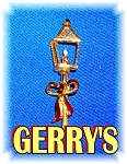 2 1/2 Inch Vintage Gerry's Christmas Lamp Brooch Pin