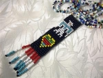 Beaded Indian Necklace Hand Made Double Row