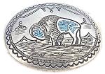 Sterling Silver Turquoise Buffalo Belt Buckl