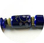 Necklace Lapis Nuggets Oriental Cobalt Glass Bead
