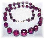 Necklace Cherry Amber Gradulated Faceted
