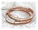 Spiny Oyster/coral Bangle Bracelets.