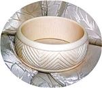 Bone Ivory Hand Carved Bangle Bracelet