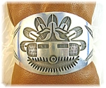 Native American Sterling Silver Signed Gibb Cuff