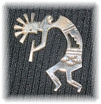 Sterling Silver Kachina Dancer Brooch Pin