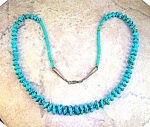 Necklace Turquoise Beads Estate Sterling Silver Points