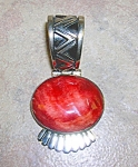 Native American Sterling Silver Spiny Oyster Pendant