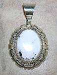 White Buffaloturquoisesterling Silver Signed Rccpendant