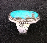 Native American Sterling Silver Turquoise Stanley Curle