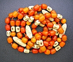 Necklace Antique Amber And Cellulose From China