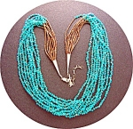 Necklace Turquoise Heishi Sterling Silver Paul Coriz
