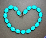 Necklace Turquoise Sterling Silver Toggle Clasp