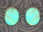 Sterling Silver Turquoise Robert Becente Clip Earrings