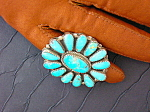 Turquoise And Sterling Silver Native American Ring