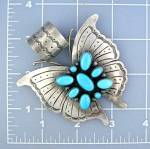 Native American Sterling Silver Turquoise Pendant Livin