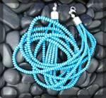 Necklace Turquoise Sleeping Beauty 5 Strand Sterling S