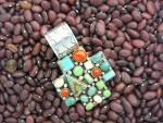 Rocki Gorman Sterling Silver Gaspeite Coral Turquoise