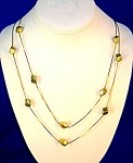 Double Chain Goldtone Cube Necklace Korea