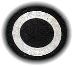 Gold & Clear Lucite Plastic Bangle Bracelet