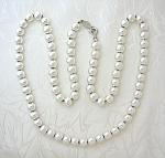 Napier Silver Bead Necklace