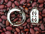 Silvertone Lacy Spring Clip Earrings