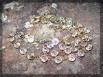 Necklace Round Swarovski Crystal Gold Link 37 Inch