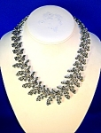 Silver Hinged Leaf Choker Necklace.