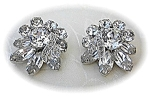 Eisenberg Crystal Clip Earrings Vintage